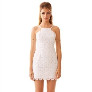 Lilly Pulitzer Katie white cut-in shift dress/00